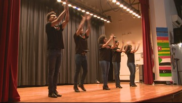 Top African-American dance company inspires, teaches students history on stage