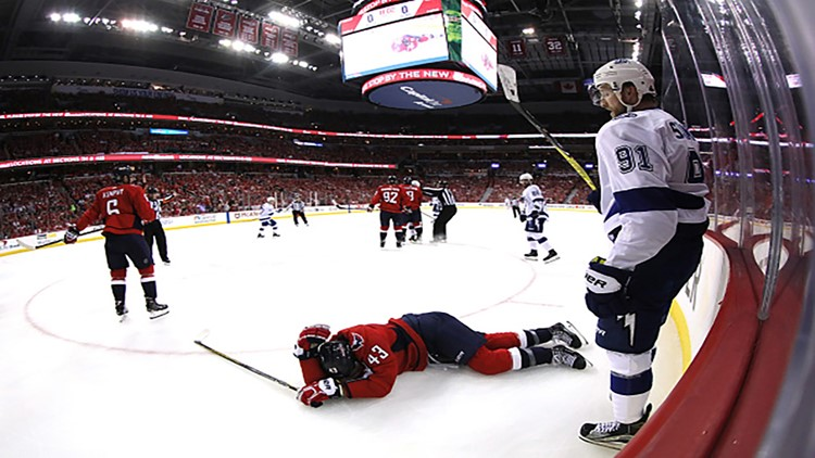 In Game 3 of the Eastern Conference Finals Tuesday night, Wilson was hit pretty hard by Tampa Bay defenceman Anton Stralman.