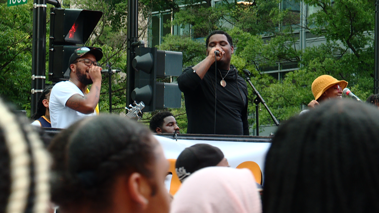 Juneteenth celebrations in DC were marked with Go-Go music and block parties honoring newly recognized federal holiday