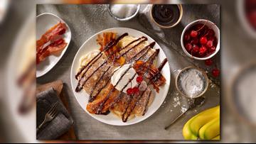 Banana split pancakes recipe