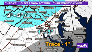 WINTER STORM WARNING: Here's what to expect during Wednesday's storm