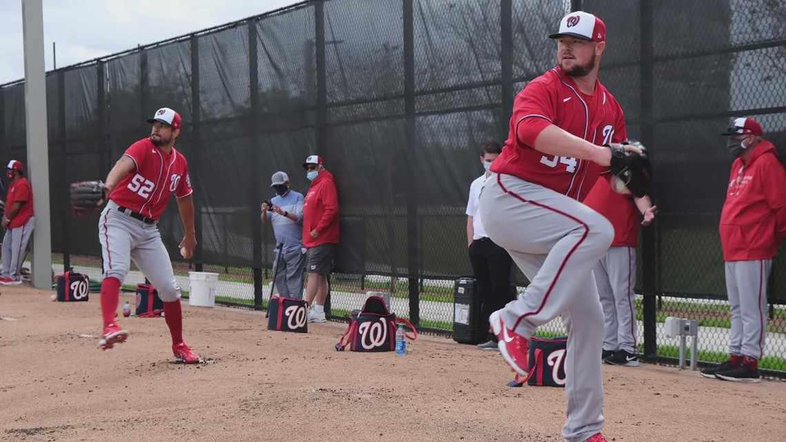 Washington Nationals working hard in spring training amid early morning, no fans