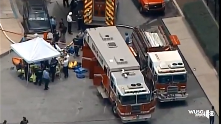 Hazmat investigation ongoing at Johns Hopkins Hospital