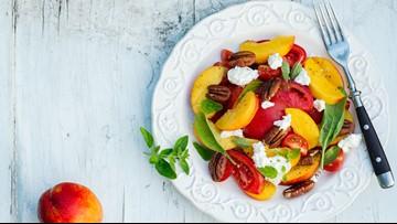 Peach & tomato salad recipe from Carla Hall