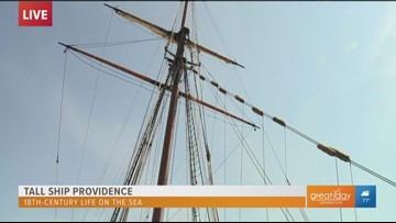 Learn about life on the sea at the Tall Ship Providence