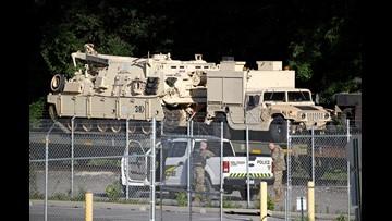 Military tanks arrive in DC