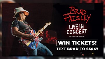 Win tickets to see Brad Paisley at Jiffy Lube Live