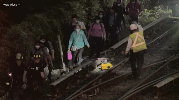 Metro gives riders $21 for their troubles after train goes off the tracks