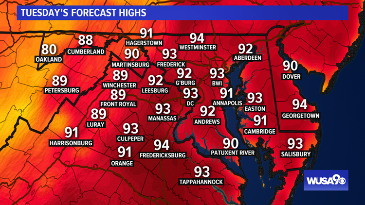 Hottest week of the year for DC, MD & VA