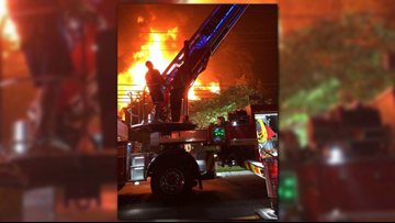 House under renovation catches on fire in Bethesda