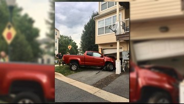 Gas leak reported after truck collides with home in Germantown
