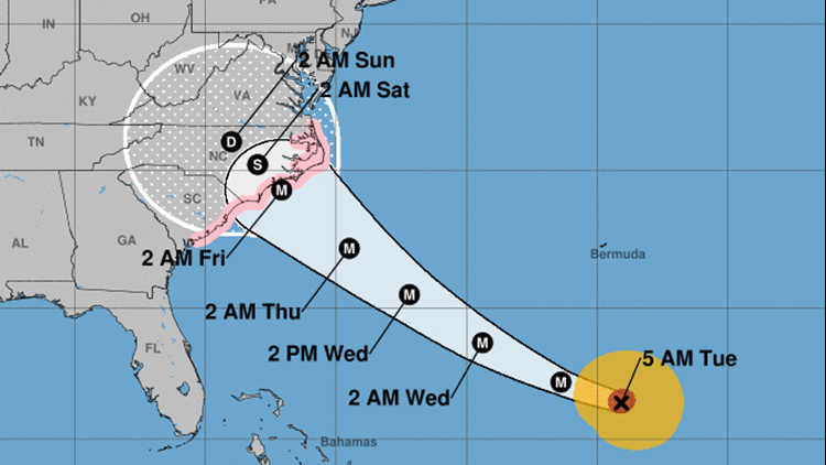 Hurricane Florence Cone 9-11-18 5am-432346027
