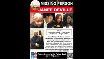 Police upgrade disappearance of 15-year-old Lanham, Maryland girl to critical