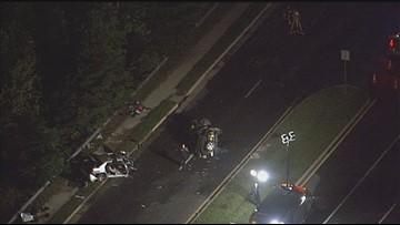 Serious crash shuts down road in Woodbridge, Virginia