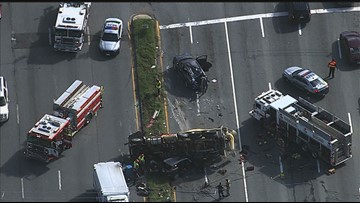 Serious crash leaves several injured in Prince George's Co.