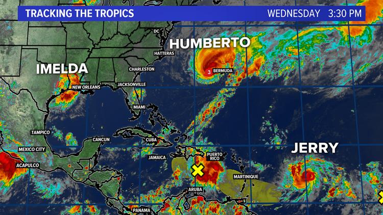 Tropics Triple Threat: Imelda, Humberto, and Jerry