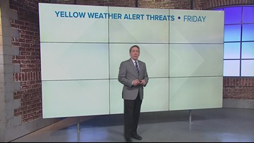 Storms possible Friday, windy and warm