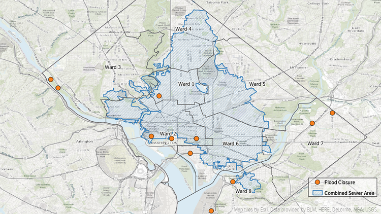 DC Combined Sewer with Flood Closures