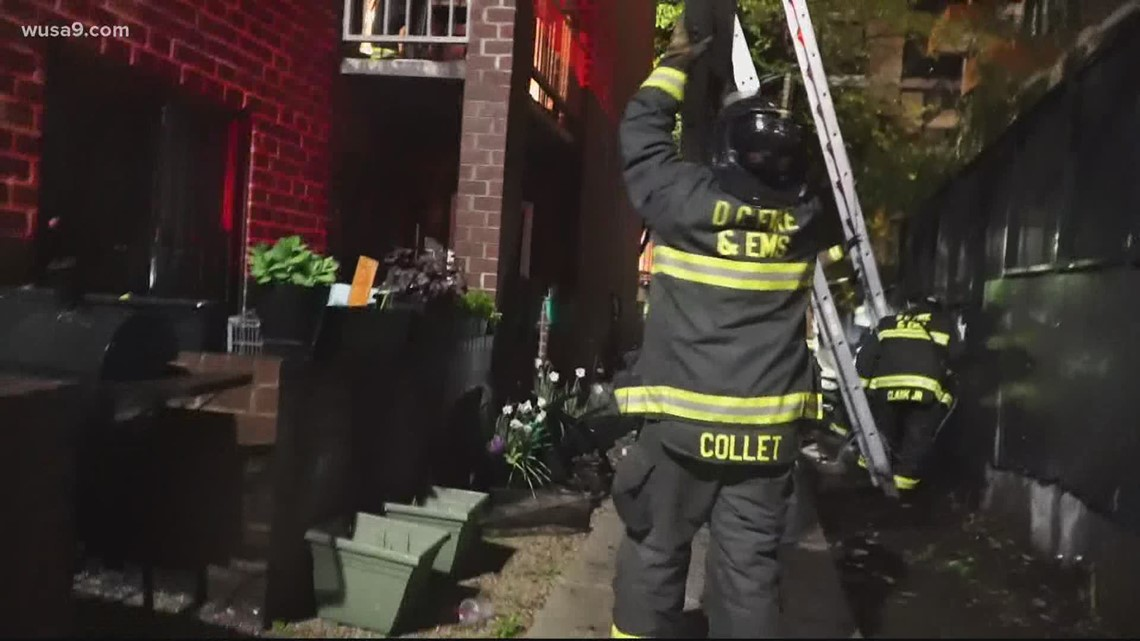 DC firefighters rescue several people from apartment fire