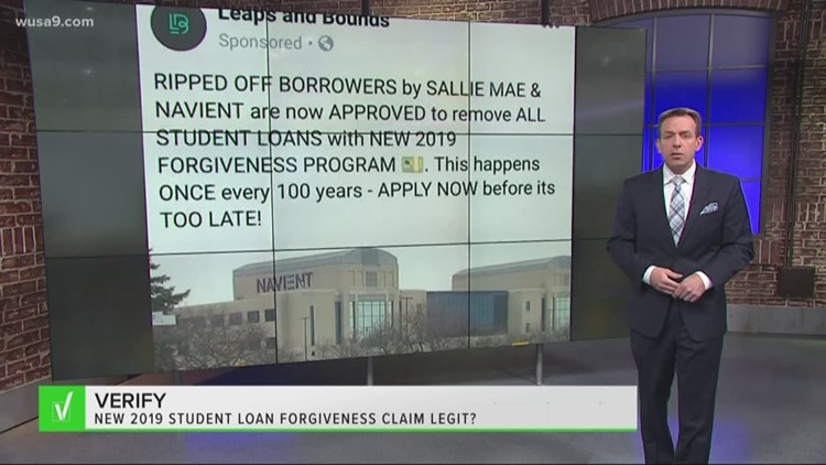 VERIFY: 'New' 2019 Student Loan Forgiveness Program won't wipe away loans  with Navient, Sallie Mae