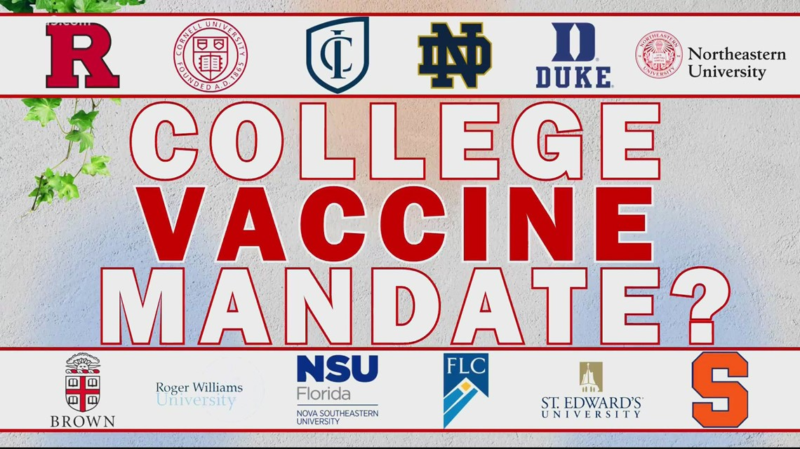 Universities will require COVID-19 vaccines for students