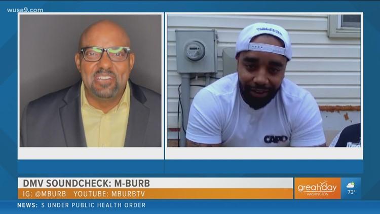 Hip-Hop artist M-Burb showcases his popular single on the DMV Soundcheck