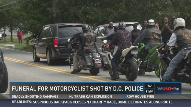 motorcycle shooting d  Sadness, frustration as D.C. police-involved shooting victim laid to ...