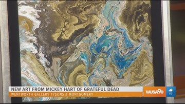 Grateful Dead band member Mickey Hart showcases artwork on North American art tour