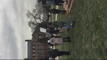 Students chanting, rallying over Washington Met closing it's doors