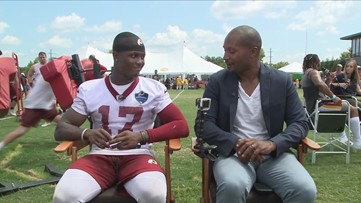 Redskins player Terry McLaurin talks about first training camp