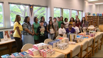 'I love to read': Virginia middle school students surprised with personal libraries