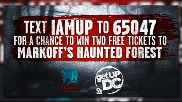Win a trip on the Get Up DC bus to Markoff's Haunted Forest