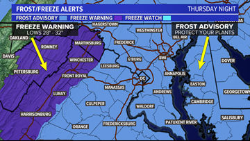BRRR: First Freeze/Frost of the season Thursday night