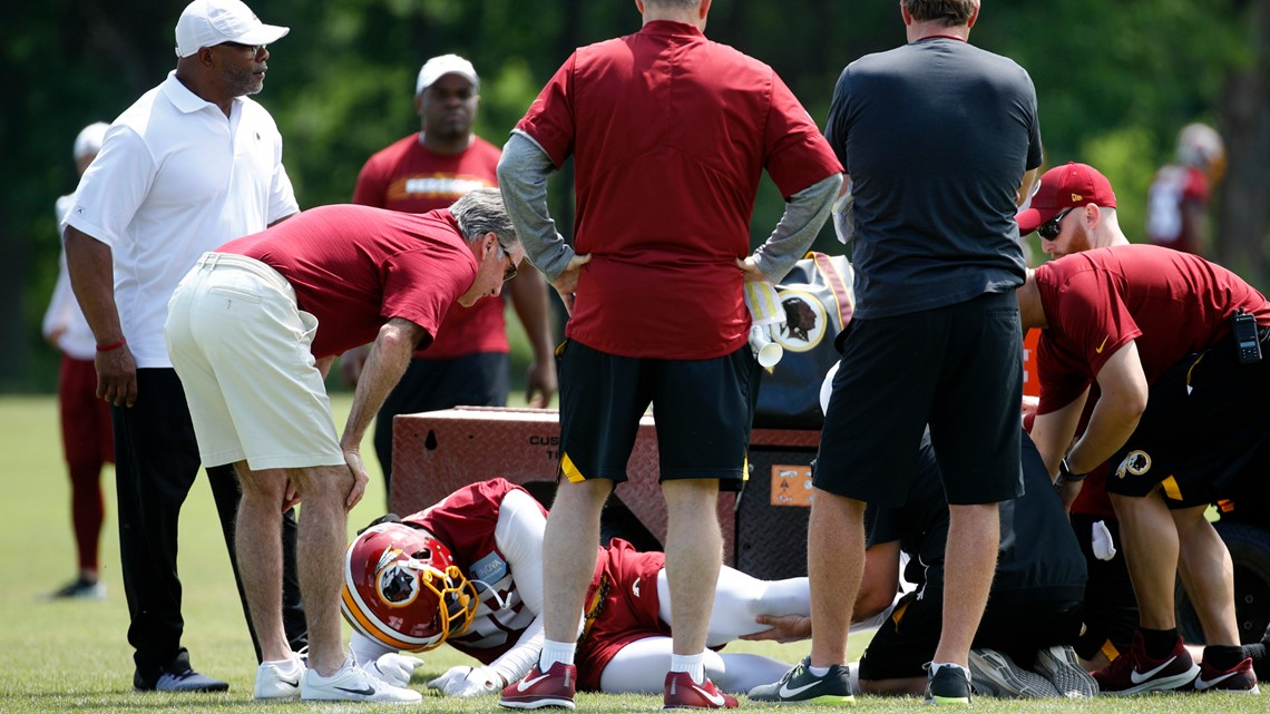 Washington Redskins linebacker tears ACL in off-season workout, reports say
