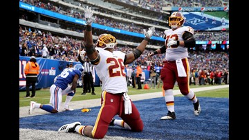 Redskins win third straight, behind defense and Peterson