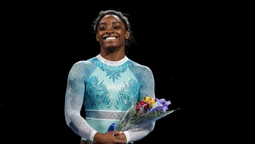 Simone Biles is 6-for-6, becomes first American to win medals in every event at worlds