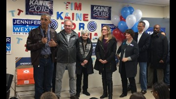 Obama surprise visit inspires first time voters in Fairfax County
