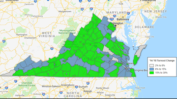 Virginia voters turn out in major jump from 2014