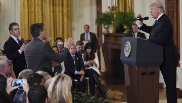Trump says he may revoke press credentials for other reporters