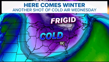 Coldest air of the season on the way