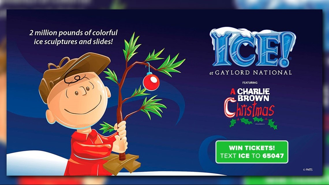 Win tickets to ICE! Featuring A Charlie Brown Christmas at Gaylord National Resort