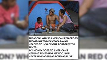 VERIFY: Is the American Red Cross assisting caravan members?