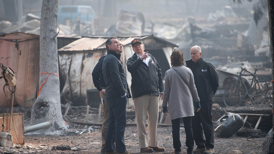 PHOTOS: Trump visits California areas ravaged by Camp fire