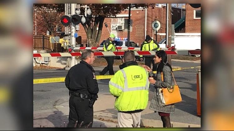 Woman fatally struck by vehicle near train tracks in Gaithersburg area, train service halted