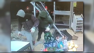 Suspects back into 7-Eleven store with stolen truck, steal ATM and then lose it