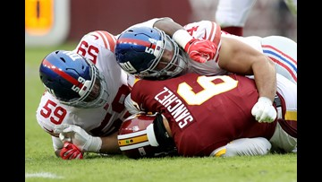 Giants blow out Redskins; Washington loses fourth straight