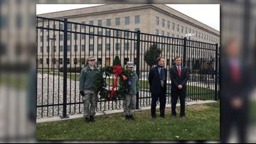 Wreaths Across America honors 911 victims at Pentagon Memorial