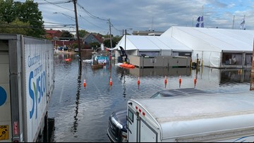 Tidal flooding closes roads in Alexandria and Annapolis