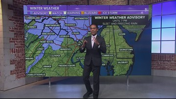 Light freezing rain to linger Saturday afternoon
