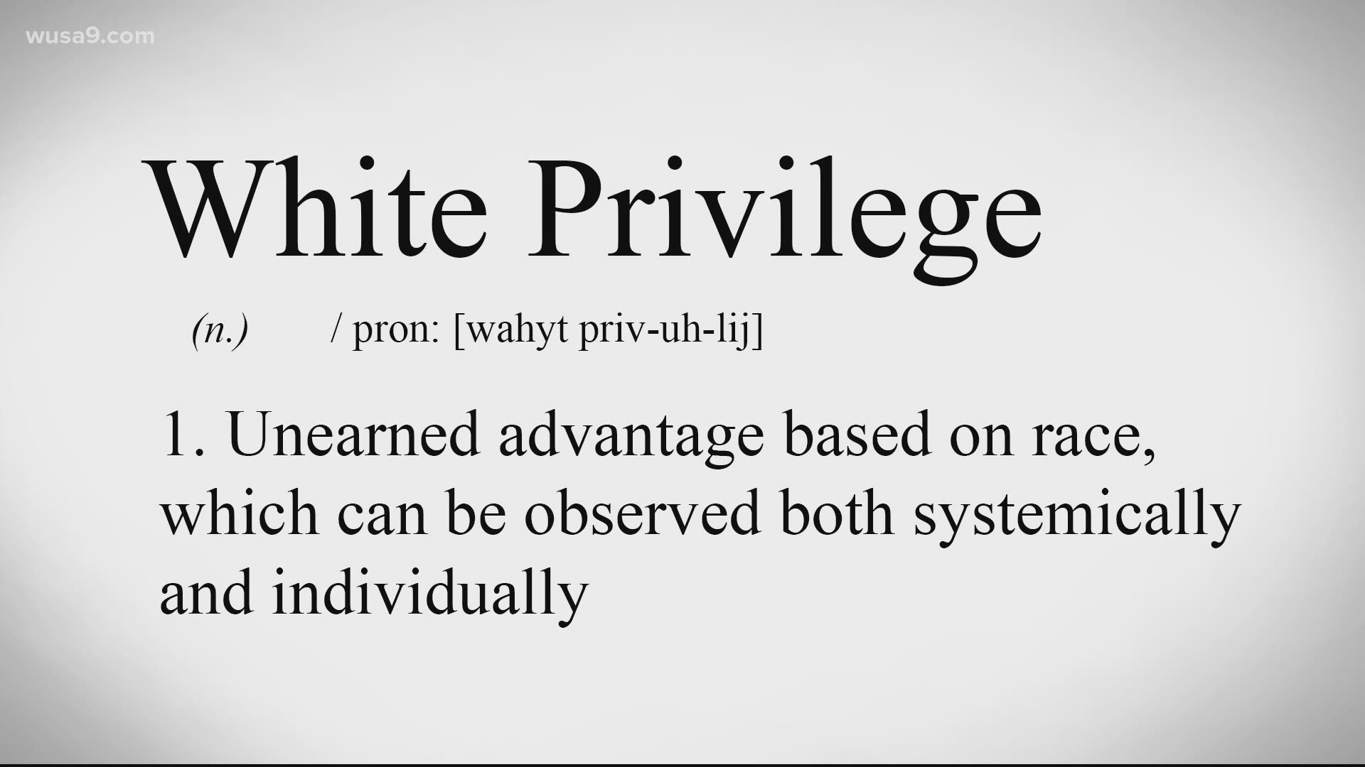 White privilege is real and this is what it looks like | wusa9.com